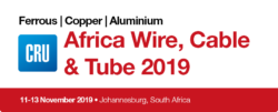 Africa Wire, Cable & Tube: 11-13 November 2019 • Johannesburg, South Africa