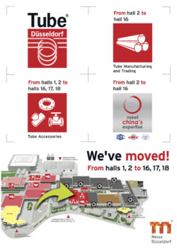 We've moved from halls 1, 2 to halls 16, 17, 18